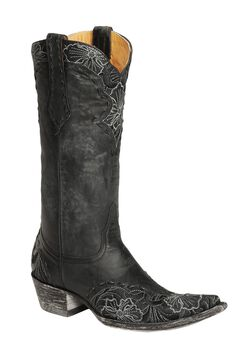 Old Gringo Erin Floral Embroidered & Laced Cowgirl Boots - Pointed Toe, , hi-res