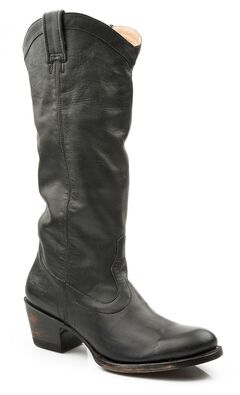 Stetson Hand Burnished Faccini Riding Boots - Round Toe, , hi-res