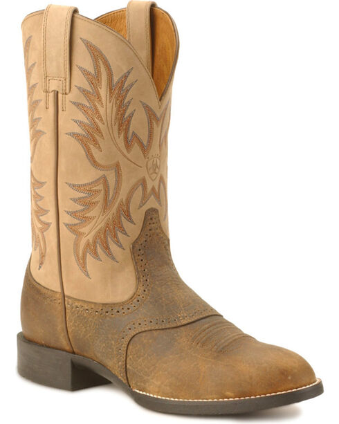 Ariat Heritage Stockman Boots, Brown, hi-res