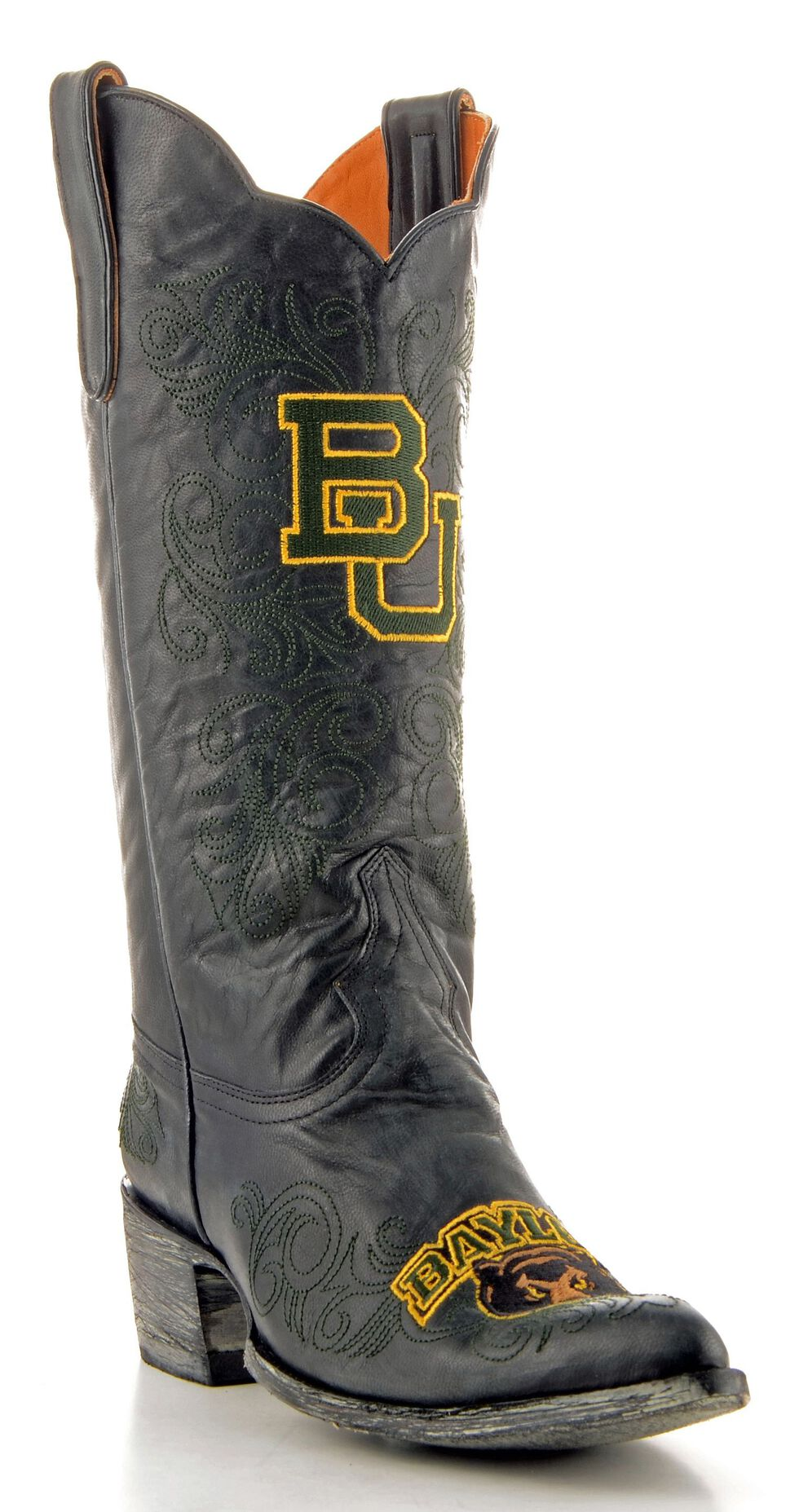 Gameday Baylor University Cowgirl Boots - Pointed Toe, Black, hi-res