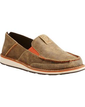 Ariat Men's Brown Bomber Cruiser Shoes - Moc Toe, Brown, hi-res