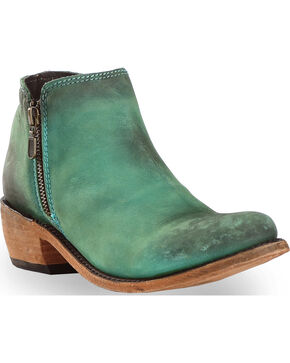 Liberty Black Women's Vegas Turquesa Cowgirl Booties - Round Toe , Turquoise, hi-res