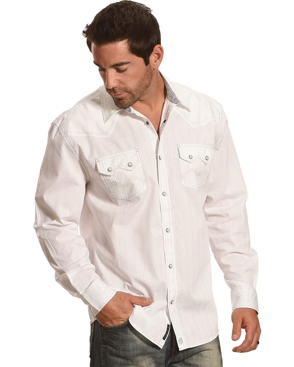Moonshine Spirit Men's Everclear Solid Long Sleeve Shirt , White, hi-res