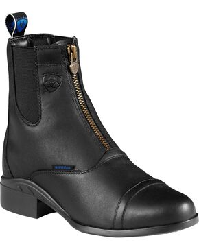 Ariat Heritage H2O Zipper Riding Boots - Round Toe, Black, hi-res