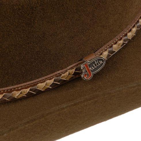 Justin Plains 2X Wool Cowboy Hat, Brown, hi-res