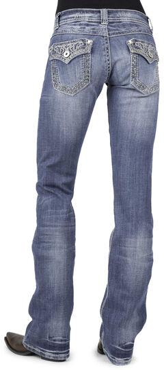 Stetson Women's 818 Rhinestone Bootcut Jeans, , hi-res
