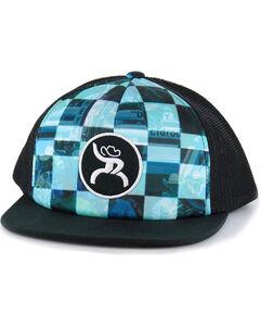 HOOey Men's Roughy Buckle Ball Cap, Black, hi-res