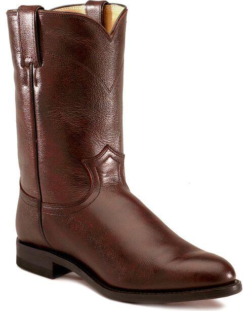 Justin Classic Roper Cowboy Boots - Round Toe, Black Cherry, hi-res