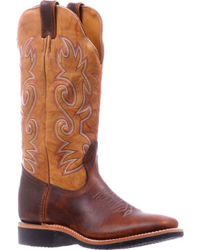 Boulet Brown Extralight Cowgirl Boots - Square Toe , Brown, hi-res
