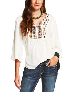 Ariat Women's White Sterling Top , White, hi-res