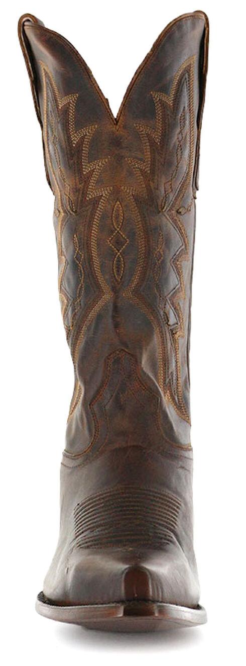 El Dorado Handmade Distressed Goat Cowboy Boots - Snip Toe, Brown, hi-res