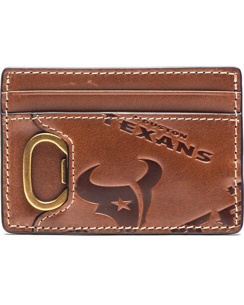 Jack Mason Men's Houston Sideline ID Card Case , Brown, hi-res
