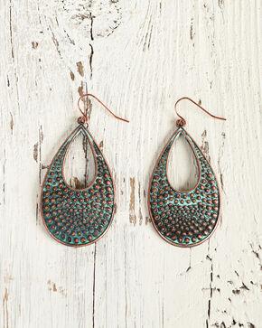 Shyanne Women's Copper Hammered Teardrop Earrings, Rust Copper, hi-res