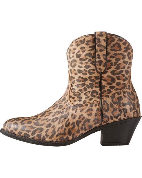 Ariat Women's Leopard Print Darlin Short Boots - Pointed Toe , Leopard, hi-res
