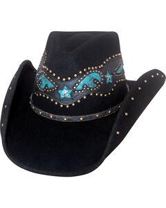Bullhide Women's One Dance Wool Hat , Black, hi-res