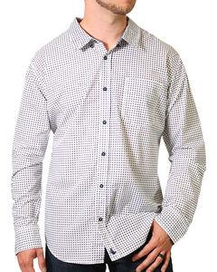 Cody James Print Long Sleeve Western Shirt, White, hi-res