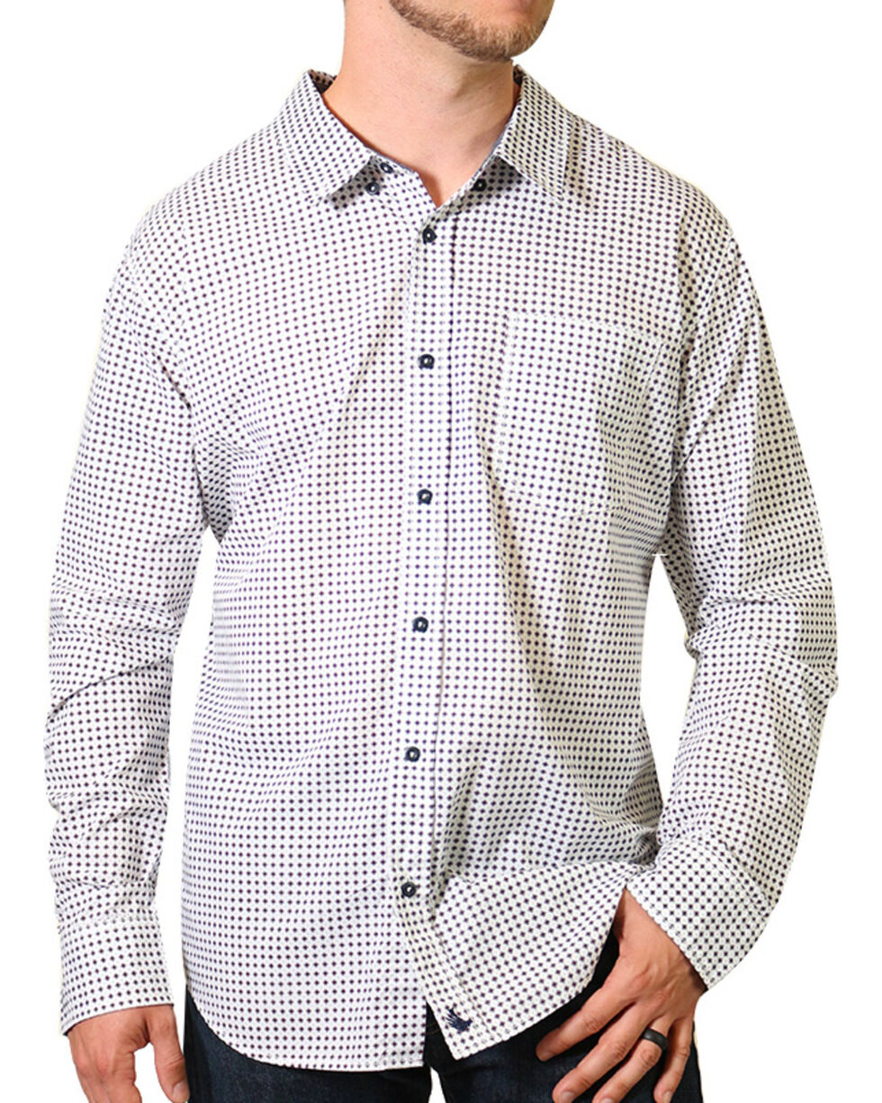 Cody James Print Long Sleeve Western Shirt, White, hi-res
