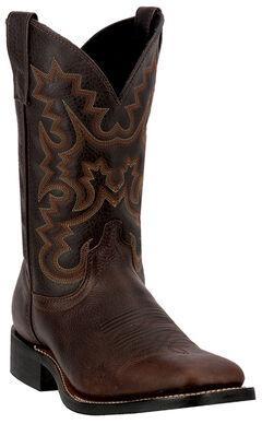 Laredo Fremont Cowboy Boots - Square Toe, Copper, hi-res