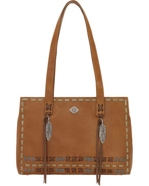 American West Mohican Melody Collection Shopper Tote, Tan, hi-res