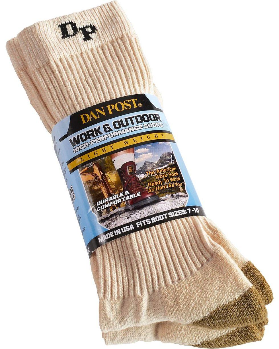Dan Post Men's Work & Outdoor High Performance Socks, Natural, hi-res