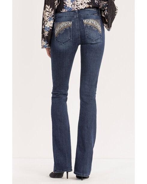 Miss Me Women's Indigo Danger Zone Mid-Rise Jeans - Boot Cut , Indigo, hi-res