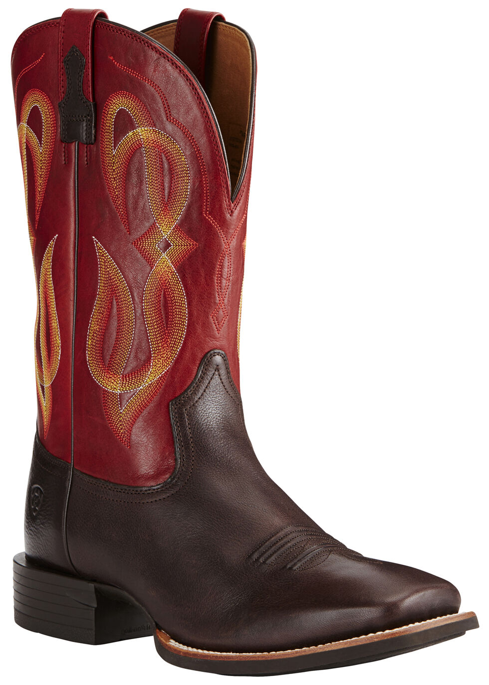 Ariat Men's Brown Quantum Brander Boots - Wide Square Toe, , hi-res