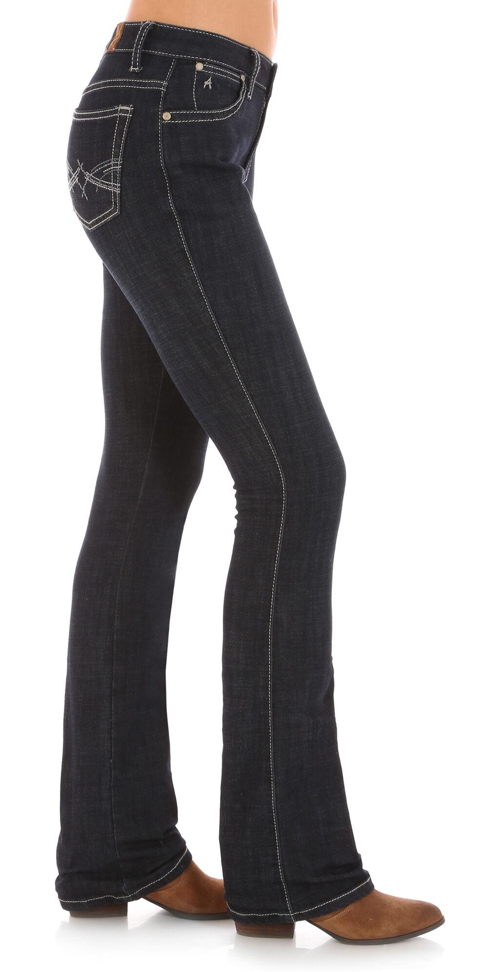 Wrangler Women's Dark Rinse Aura Instantly Slimming Jeans, Indigo, hi-res