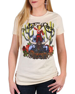 Rodeo Quincy Women's Wild Rose Rodeo Show T-Shirt, White, hi-res