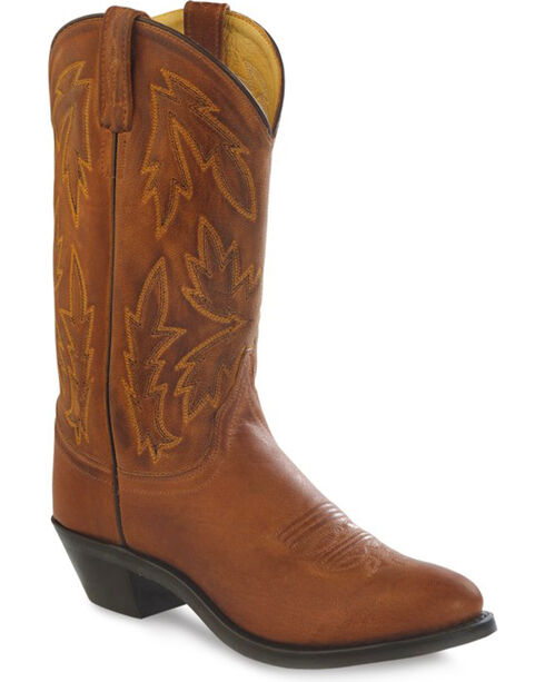 Old West Women's Tan Polanil Western Cowboy Boots - Round Toe, Tan, hi-res