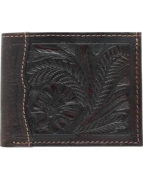 American West Bi-Fold Tooled Wallet, Chocolate, hi-res
