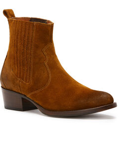 Frye Women's Brown Diana Chelsea Booties - Round Toe , Wheat, hi-res