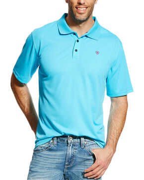 Ariat Men's Tek Polo, Blue, hi-res