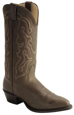 Nocona Legacy Calfskin Cowboy Boots - Medium Toe, Brown, hi-res