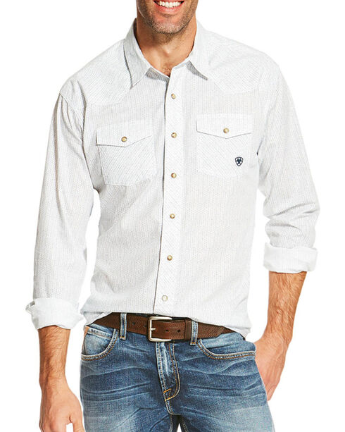 Ariat Men's Ularic Retro Long Sleeve Shirt    , White, hi-res
