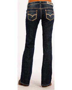 Rock & Roll Cowgirl Women's Dark Vintage Riding Jeans - Boot Cut , Blue, hi-res