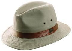 Dorfman Pacific Light Khaki Twill Safari Hat, Khaki, hi-res