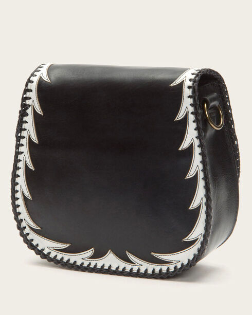 Frye Women's Black Eagle Saddle Bag , Black, hi-res