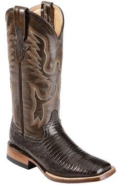 Ferrini Teju Lizard Cowgirl Boots - Wide Square Toe, , hi-res