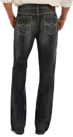 """Rock & Roll Cowboy Men's Indigo """"A"""" Embroidery Jeans - Boot Cut, , hi-res"""
