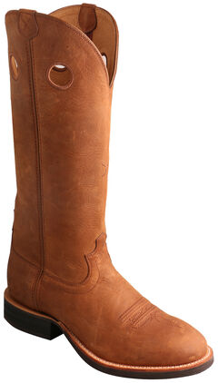 Twisted X Oiled Suede Buckaroo Cowboy Boots - Round Toe , , hi-res