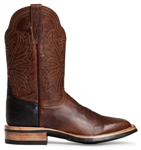 Cinch Classic Goatskin Cowboy Boots - Square Toe, Brown, hi-res