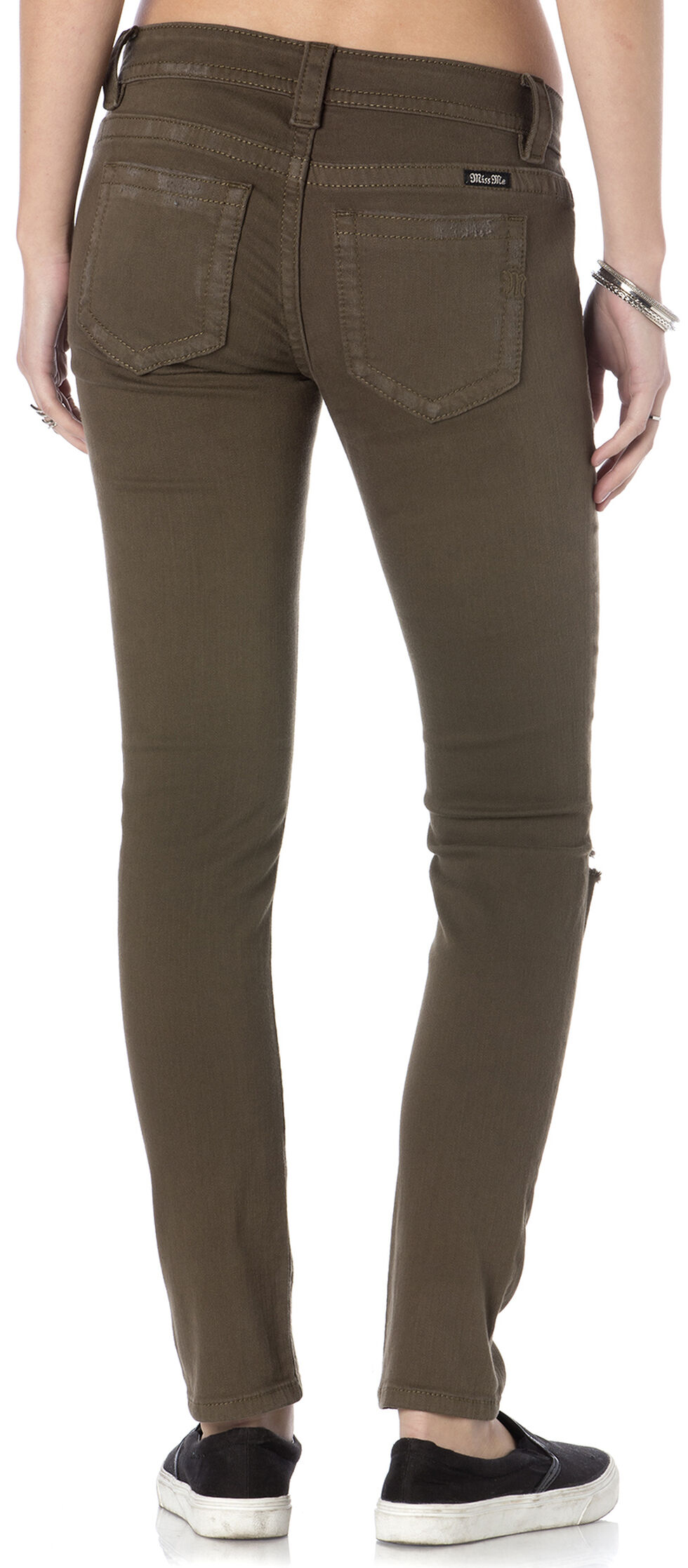 Miss Me Women's Forward March Army Green Skinny Jeans, Olive, hi-res