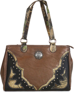 Way West Women's Camo Overlay Concealed Carry Handbag, Camouflage, hi-res