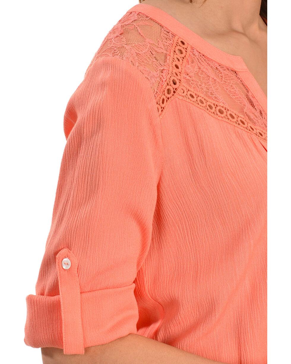 Miss Me Women's Sweet Life Woven Top, Pink, hi-res