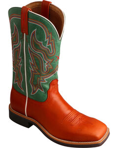 Twisted X Women's Neon Green Top Hand Cowgirl Boots - Square Toe, , hi-res