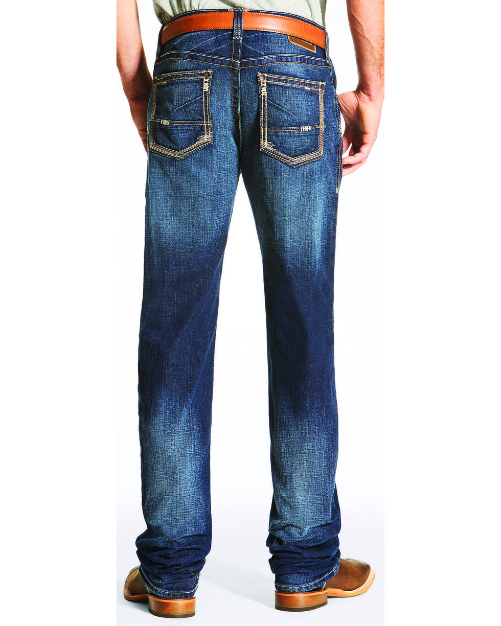 Ariat Men's M2 Straightedge Relaxed Fit Jeans - Boot Cut, Indigo, hi-res