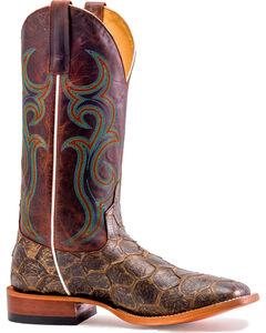 Horse Power Men's Filet Of Fish Boots - Square Toe, Brown, hi-res