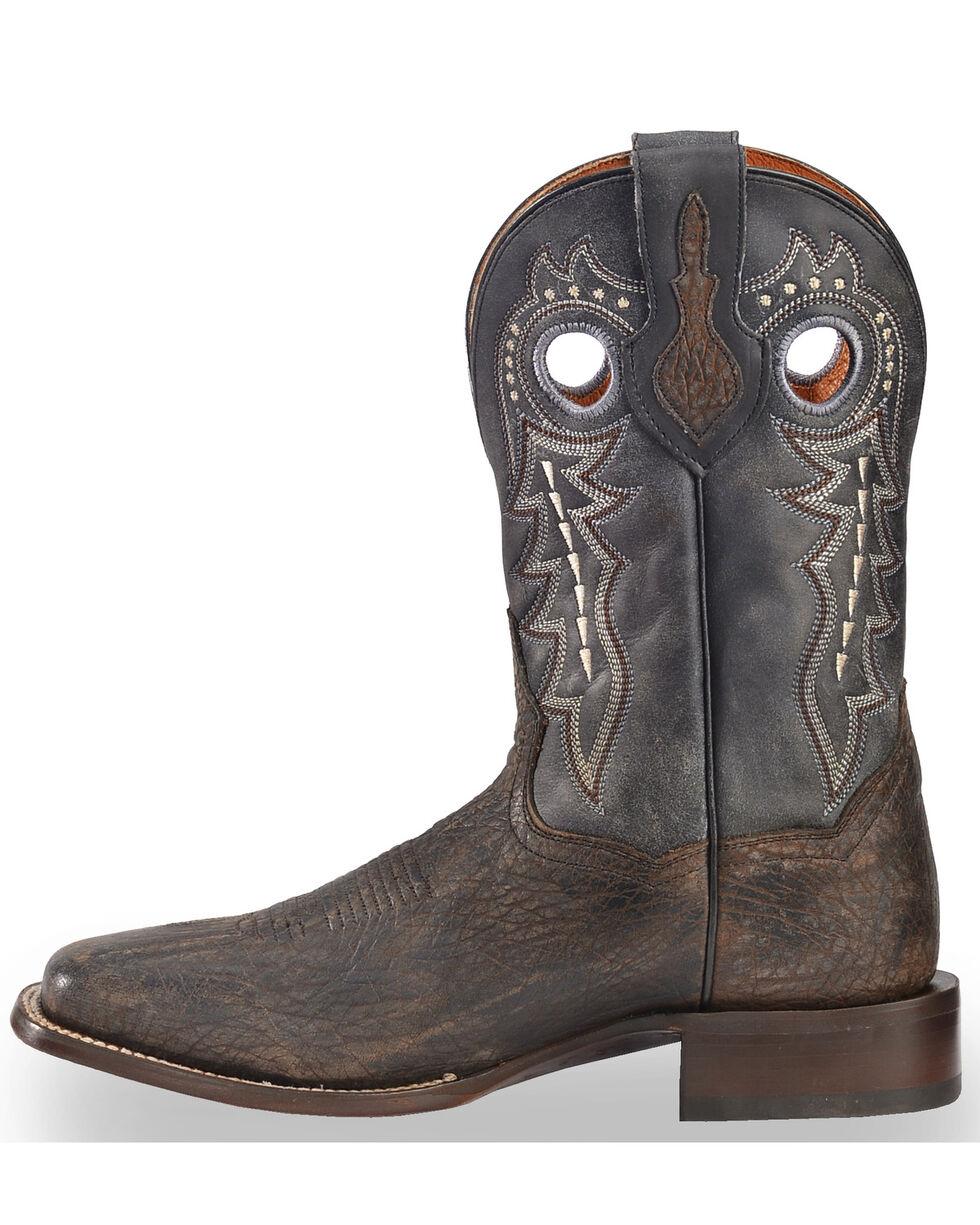 Dan Post Men's Badlands Distressed Leather Cowboy Boots - Square Toe , Black, hi-res