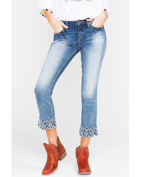 Miss Me Women's Indigo Luxe Life Crop Jeans - Boot Cut , Indigo, hi-res