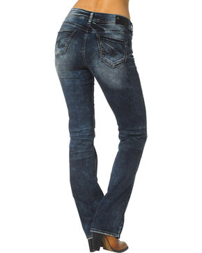 "Silver Women's Suki Slim Bootcut Relaxed Fit Jeans - 33"" Inseam, Denim, hi-res"